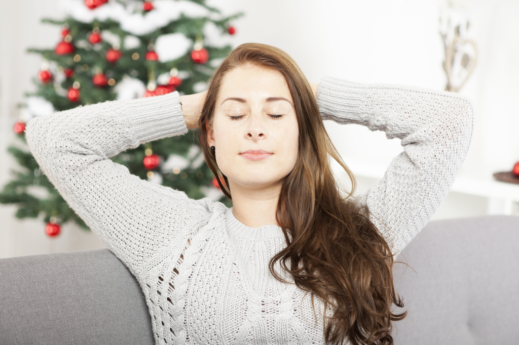 Young Girl Is Relaxing After Christmas Stress